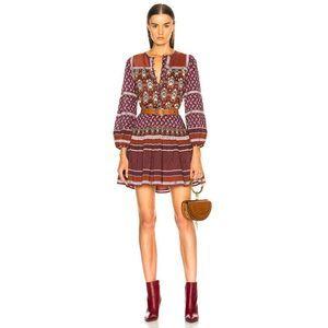 Sea New York Mia Long Sleeve Tunic Dress NWT Boho